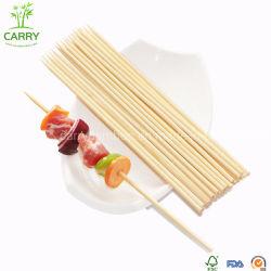 Churrasco personalizados descartáveis de alta qualidade Round espeto de bambu 2.5X25cm