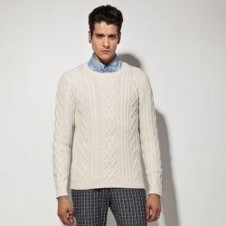 Acrílico de lana de alpaca tejido de Nylon Cable suéter hombre