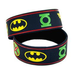 Commerce de gros Superman gravé Bracelet en silicone rempli d'encre/ Bande de poignet Silcione