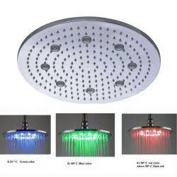Nessun Battery Need 16inch Outer LED Big Rain Shower Head