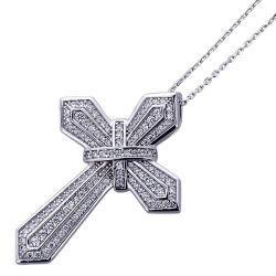 925 Sterling Silver Micro ouvrir l'homme Croix pendentifs Bijoux de réglage