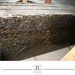 La Chine l'or noir/Portorož dalle de marbre or Pavage pour plateau de table ou carreaux de marbre de comptoir Décoration de prix