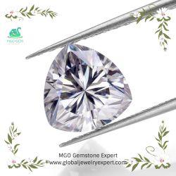 백색 녹색 또는 파란 또는 분홍색 MGO 주옥 5X5mm 심혼에 의하여 형성되는 커트 또는 보석을%s 회색 또는 Champagne 또는 색깔 느슨하게 실험실 Moissanite 노랗거나 밝은 파란색 또는 호박색 다이아몬드