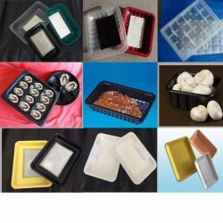 Cassetto di plastica dell'alimento di sigillamento a gettare di Thermoforming dell'imballaggio dell'insalata dell'ortaggio da frutto del pollame