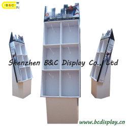Pavimento Cardboard Displays con Hooks, Customized Newest Recyclable Pop Cardboard Display con Hooks (B&C-B035)