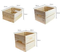 Boîte en bois Le bois de la poitrine amovible