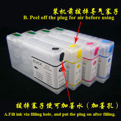 Sistema de CI CISS de tinta recargables para Epson Workforce PRO WP-4520 Wp-4530 Wp-4533 Wp-4540 T6761 Cartucho de tinta 6764 676XL