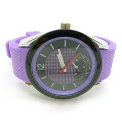 新しい普及したシリコーンの太陽腕時計の習慣カラー