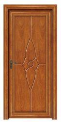 El aluminio puerta de madera, aluminio exterior dentro de la madera, puerta de la sala (CL-D2009)