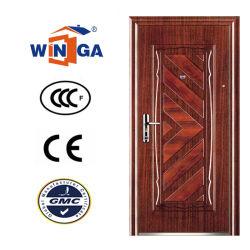 Color madera Heatransfer fuera usando la seguridad de la puerta metálica de acero (W-S-134)