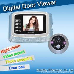 Цифровое видео двери Peephole Viewer с сильным инфракрасного видения Peepholes камеры