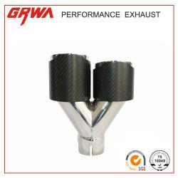 Stock Universal Car Carbon Fiber Stainless Steel Exhaust Muffler TIP에서