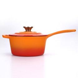 Nouveau style de gros ronde casserole en fonte