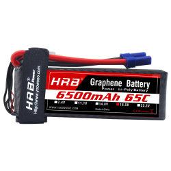 La DGRH Le graphène 5s 6500mAh 18.5V 100c ec5 de la Batterie Lipo pour RC avions drones