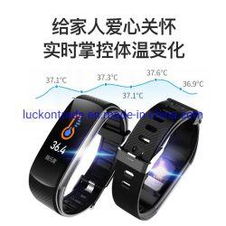 Pulsera inteligente, la frecuencia cardiaca de reposo de oxígeno arterial resistente al agua la detección de deportes de Bluetooth Pulsera podómetro destello de luz azul cuando aviso