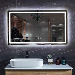 حديثة غرفة حمّام تصميم [بكليت] مع [لد] [ديجتل كلوك] عمل يضاء [لد] بنية مرآة لأنّ غرفة حمّام