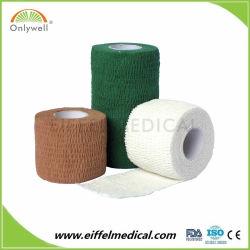 4.5M rouleau adhésif de soins de santé Sports musculaire Cohesive Bandage élastique bande de gaze