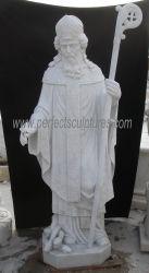 실물 크기 종교적인 카톨릭교 조각품 고대 대성당 대리석 성자 패트릭 동상 (SY-X1282)