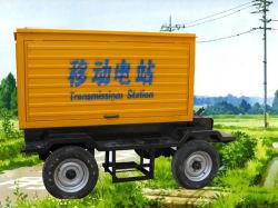 Reserveschlußteil-industrielles Energien-Generator-Set leises mobiles Genset schalldichtes wasserdichtes Kabinendach-beweglicher Dieselgenerator