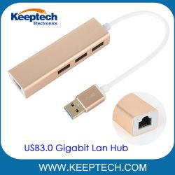 Cavo da 10/100/1000m per adattatore LAN Gigabit da hub USB 3.0 a RJ45