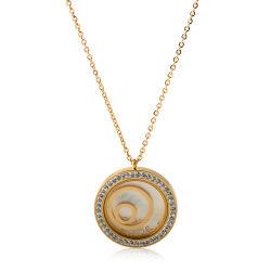 Новейшие ювелирных изделий из нержавеющей стали женщин моды бриллиантовое ожерелье