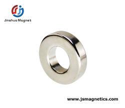Axialmente em neodímio de alto padrão magnetizada ronda do Magneto Anel Magnético NdFeB sinterizado anel do magneto