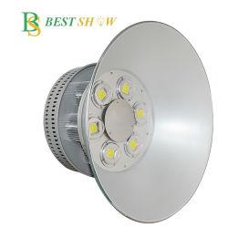 Lampada UFO IP65 da 0.9 W 100W 150W 200W Bestshow 120lm/W PF>120 Driver per lampada a fosena COB LED ad alloggiamento alto da 250 W e 300 W per Officina