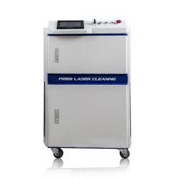Fé Metal óleo antiferrugem Pó de graxa na superfície oxidada 100W 200W Laser de fibra de Limpeza da Máquina