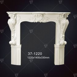 Polyuréthane de couleur de peinture personnalisée cheminée décorative pour l'intérieur décoration maison
