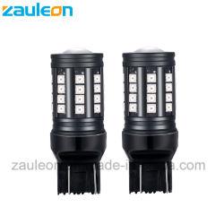 7443 W21/5W LED vermelho da lâmpada de freio automático