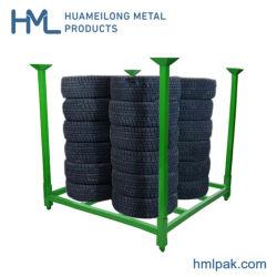 Empilage d'entrepôt réglable en acier à usage intensif de pliage du métal Les racks de stockage de palettes pneu de voiture