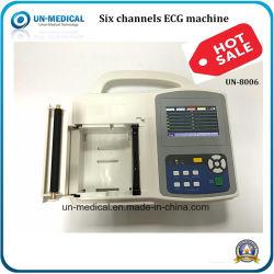 6 Channel Hospital Digital eletrocardiógrafo com ecrã a cores máquina de ECG