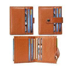 La RFID Logotipo personalizado con relieve Money Clip PU Tarjeta de Crédito de cuero billeteras Billetera titular de la tarjeta de ID.