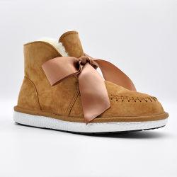 OEM Botas de Inverno de alta qualidade de forma estanque Senhoras Calçados chinelos calçado de couro genuíno grossista sapatas das mulheres