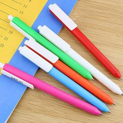 Penna di Ballpoint di plastica poco costosa con il marchio su ordinazione, penna di Ballpoint promozionale del regalo
