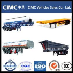 Cimc半平面の容器のダンプのダンプカーのRegrigeratorの低いベッドのセメントの燃料のタンカーのトレーラー