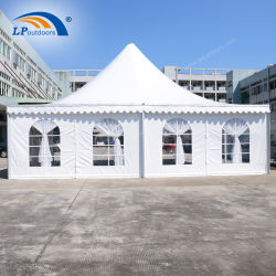 10x10m pavillon de luxe Banquet d'aluminium pagode tente pour réunion VIP