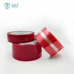 Adhésif en silicone de transfert Total Carton Ruban adhésif de sécurité d'étanchéité
