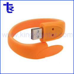 Bracelet en caoutchouc lecteur Flash USB Flashdrive imprimé les lecteurs de plumes