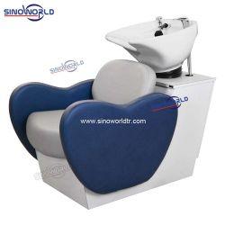 Salón de belleza Peluquería Salón de lavado del cabello champú ajustable eléctrico reposapiés silla