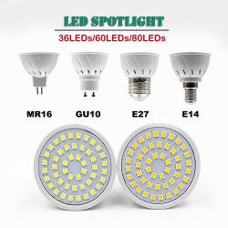 高い発電E27 E14 Gu5.3 MR16 GU10 LEDのコップランプ3W 4W 5W LEDのスポットライト