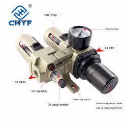 Processore della sorgente d'aria, due connettori, scarico automatico, due connettori, separatore dell'acqua dell'olio al + AF, unità di trattamento della sorgente