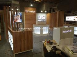 新しいデザインの人目を引くカスタマイズされた木の博覧会展覧会ブースの立場