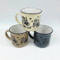 China artesanía cerámica porcelana taza de té con Print