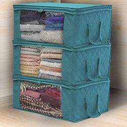 Boîte de rangement de pliage Non-Woven Amazon organisateur de la Courtepointe case Sac de rangement des vêtements de la courtepointe