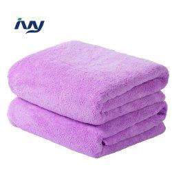 Acções de promoção dos produtos têxteis Papel Branco Jacquard Microfibra Personalizada Coral Velvet Hotel toalhas de banho