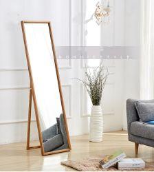 Tem periodicidade quadrimestral simples de madeira sólida preparação Quarto Espelho Retrovisor Wall-Mounted Suporte