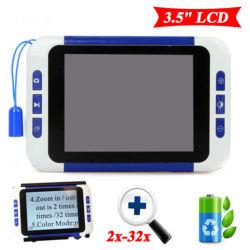 """Farben-Bildschirm LCD-Pocket elektronisches niedriges Anblick-Anzeigen-Handhilfsmittel-Digital-videovergrößerungsglas des Portable-3.5 """""""