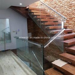 階段のための内部の強くされた明確なスタンドオフのガラス手すり