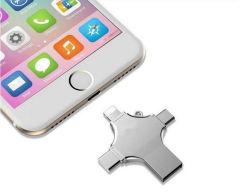 2018년 마케팅 클래스 USB 플래시 드라이브 4 in 1 OTG 핸드폰용 USB 8GB, 16GB, iPhone Android용 32GB